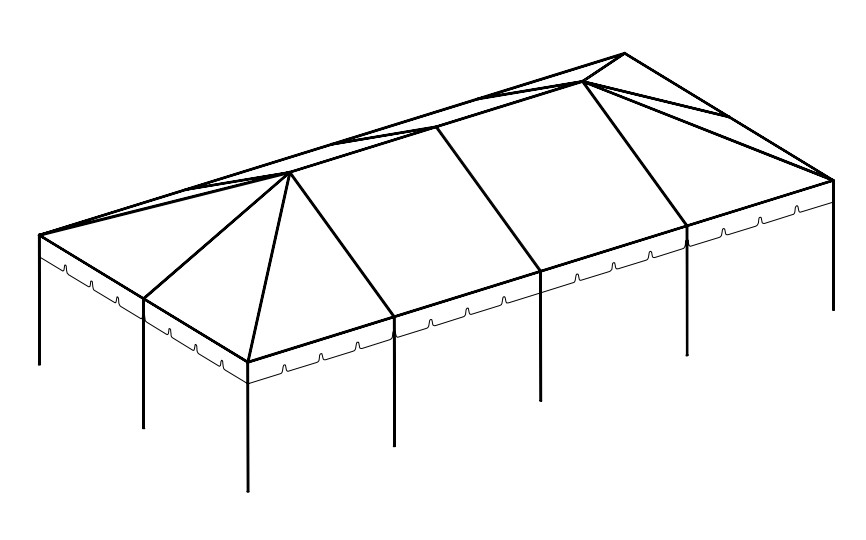 20' x 40' Frame Tent tent