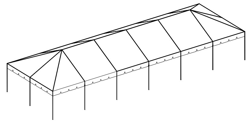 20' x 60' Frame Tent tent