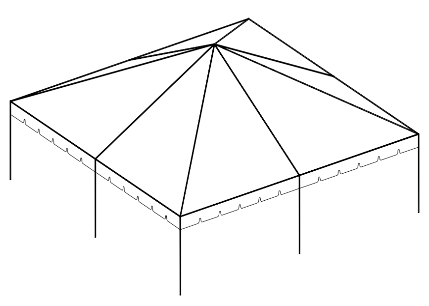30' x 30' Frame Tent tent