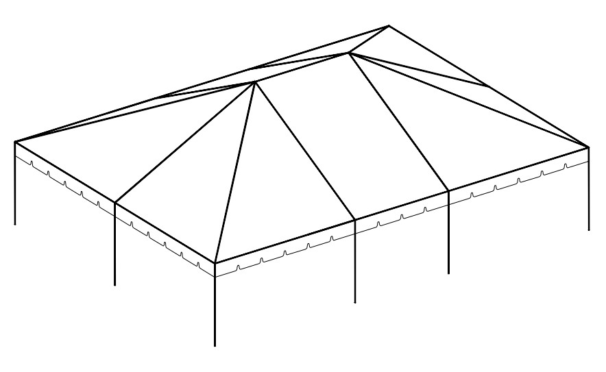 30' x 40' Frame Tent tent