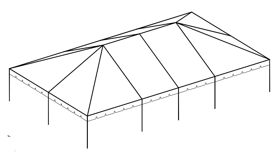 30' x 50' Frame Tent tent