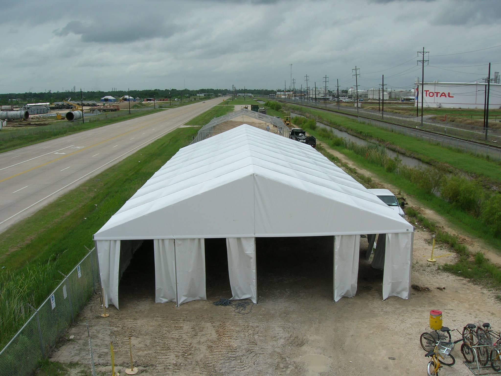 12m/40'w Clearspan tent