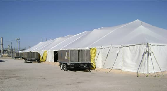 Extra Large Industrial Tents - 60' x 60' Industrial Tent Sales